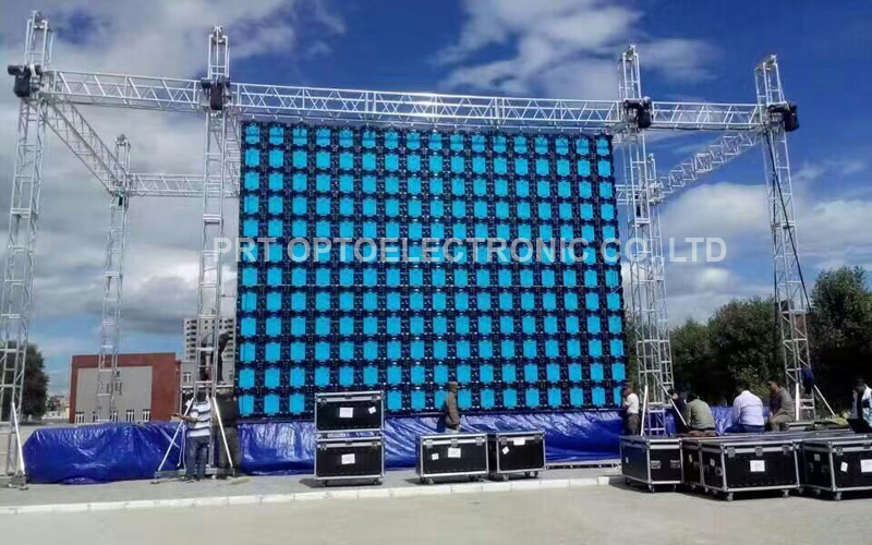 Pared de video LED para alquiler de exterior con alto brillo P5