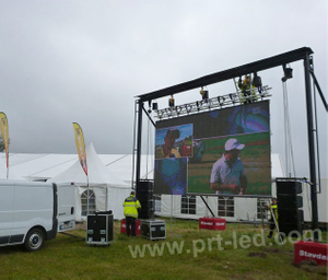 Pantalla de video LED de alquiler al aire libre impermeable del panel de pantalla P4
